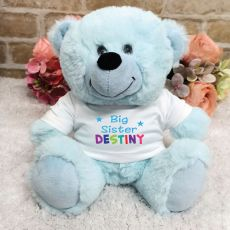 Big Sister Personalised Teddy Bear Light Blue