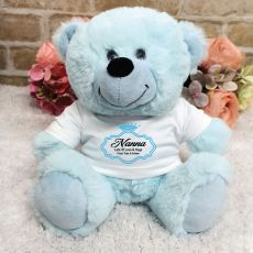 Nana Personalised Teddy Bear Light Blue