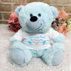 Personalised Naming Day Bear - Blue