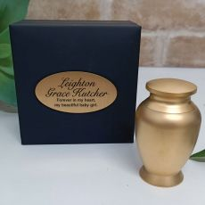 Baby Memorial keepsake Mini Urn Gold Stainless Steel