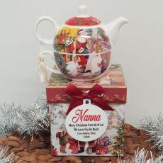 Santa Tea for One in Personalised Nan Gift Box