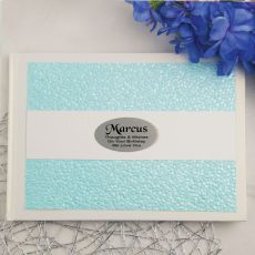 Personalised Guest Book Keepsake Album Blue Pebble