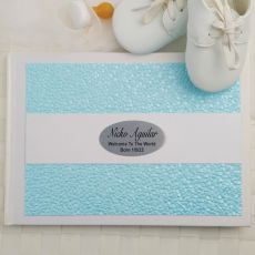 Baby Guest Book Memory Album- Blue Pebble