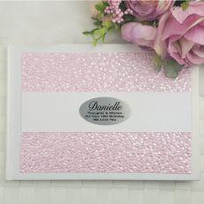 18th Birthday Guest Book Keepsake Album- Pink Pebble