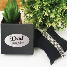 Dad Stainless Steel Chain Bracelet In Personalised Box