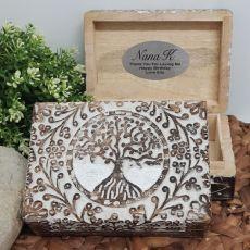 Nan Tree Of Life Boho Carved Wooden Box