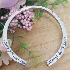 Memorial Urn Cremation Ash Cuff Bracelet