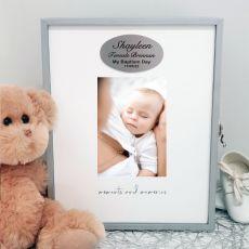 Baptism Keepsake Box with Personalised Plaque