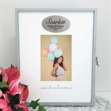 Birthday Keepsake Box with Personalised Plaque