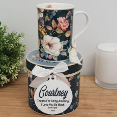 Ceramic Mug with Personalised Gift Box - Bouquet