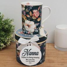 Nan Mug with Personalised Gift Box - Bouquet