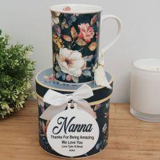 Nan Mug with Personalised Gift Box - Bouquet