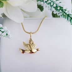 Gold Dove Memorial Cremation Urn Necklace