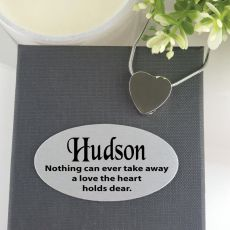 Heart Memorial Urn Cremation Ash Necklace in Personalised Box