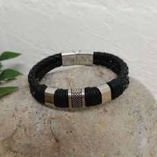 Braided Leather Bracelet Gift Boxed