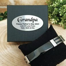 Grandpa ID Link Bracelet In Personalised Box