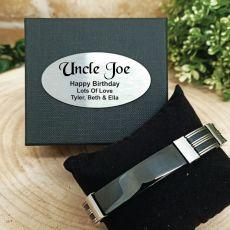 Uncle ID Link Bracelet In Personalised Box