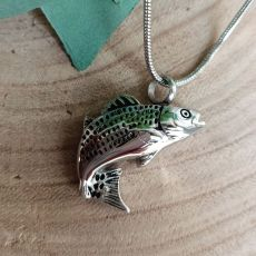 Fish Cremation Ash Urn Pendant Necklace