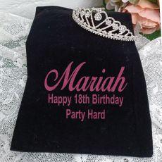 18th Birthday Large Heart Tiara in Personalised Bag