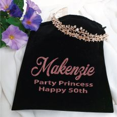 50th Birthday Alyssa Tiara Rose Gold in Personalised Bag