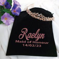 Maid Of Honour Tiara Rose Gold in Personalised Bag