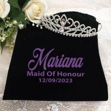 Maid of Honour Large Crystal Tiara in Personalised Bag