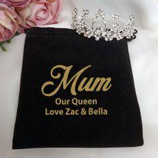 Mum Medium Floral Tiara in Personalised Bag