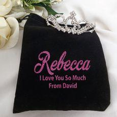 Medium Crystal Tiara in Personalised Bag