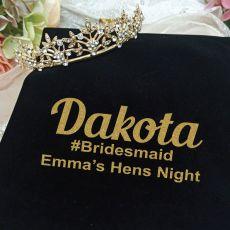 Bridesmaid Gold Vine Tiara in Personalised Bag