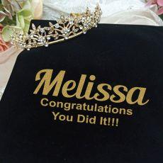 Graduation Gold Vine Tiara in Personalised Bag
