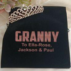 Grandma Rose Gold Tiara in Personalised Bag