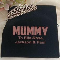 Mum Rose Gold Tiara in Personalised Bag