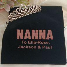 Nana Rose Gold Tiara in Personalised Bag