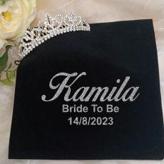 Bride To Be Silver Crystal Tiara in Personalised Bag