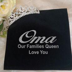 Grandma Silver Crystal Tiara in Personalised Bag