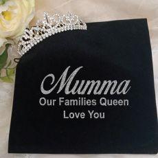 Mum Silver Crystal Tiara in Personalised Bag