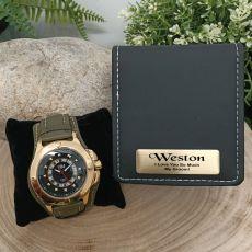 Axim Mens Watch Personalised Groom Box
