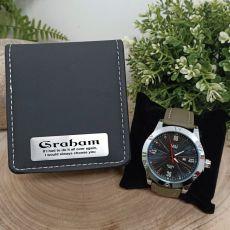 Anniversary Green Pagan Mens Watch Personalised Box