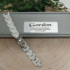 Anniversary Mens Urban Metal Bracelet - Braun