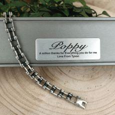 Pop Stainless Steel Link Bracelet Gift Boxed