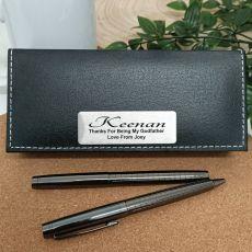 GodFather Gunmetal Pen Set Personalised Box