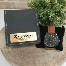 Mens Watch Pagan Brown 45mm Mesh ZPersonalised  Box