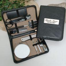 Uncle Mens Black Grooming Kit Gift Set