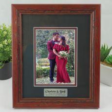 Anniversary Photo Frame 5x7 Wooden with Black Surround