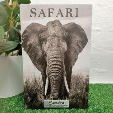 Elephant Black & White Naming Day Stash Book Box