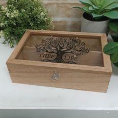 Tree of Life Wood Tea Box