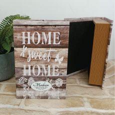 Personaliseed Home Sweet Home Stash Book Box