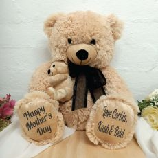 Mothers Day Personalised Bear & Baby Bear - Black