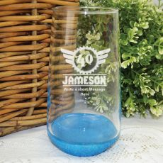 40th Birthday Engraved Personalised Glass Tumbler (M)