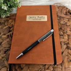 Personalised Aunty Brown Journal with Pen